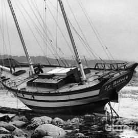 Ketch Le Bateau Shipwreck Pacific Grove Aug. 1969 by California Views Archives Mr Pat Hathaway Archives