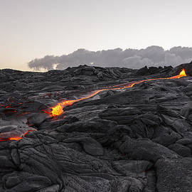 Kilauea Volcano 60 Foot Lava Flow - The Big Island Hawaii by Brian Harig