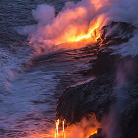 Kilauea Volcano Lava Flow Sea Entry 4 - The Big Island Hawaii by Brian Harig