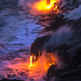 Brian Harig - Kilauea Volcano Lava Flow Sea Entry 5 - The Big Island Hawaii