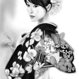 Yoshiyuki Uchida - Kimono Girl No.6