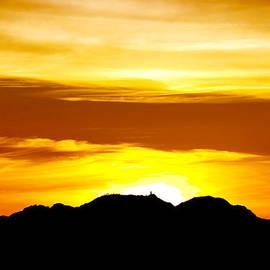 Kitt Peak - Winter Solstice Sunset by Douglas Taylor