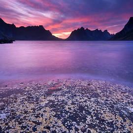 Kjerkfjorden Lofoten Islands by Justin Foulkes
