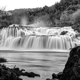 Ivan Slosar - Krka waterfalls BW