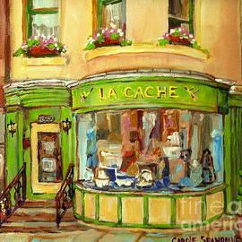 La Cache Boutique On Greene Beautiful Paintings Storefronts Street Scenes Home Decor Art C Spandau by Carole Spandau