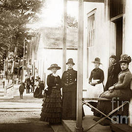 Ladies on Grand Avenue looking down from Lighthouse Ave. Circa 1880 by California Views Archives Mr Pat Hathaway Archives