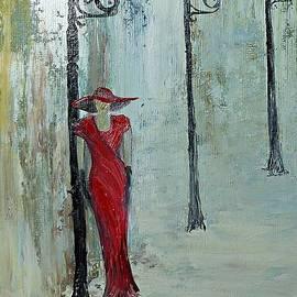 Lady in red by Amalia Suruceanu