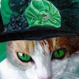 Lady Little Girl Cats In Hats by Michele Avanti