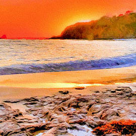 Laguna Beach at Sunset by Bob and Nadine Johnston