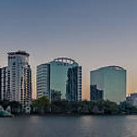 Lake Eola Orlando Fl Panoramic by Susan Candelario