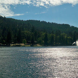 Scenic Lake Photography In Crestline California At Lake Gregory by Ai P Nilson