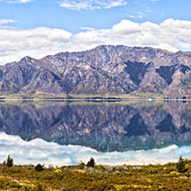 Lake Hawea Panorama Otago New Zealand by Colin and Linda McKie