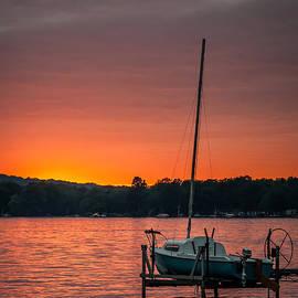 At Lands End Photography - Lake Sunset and Sailboat