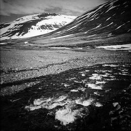 Landscape North Iceland black and white