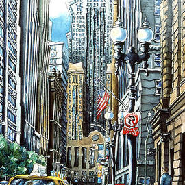 LaSalle Street by Ruth Green-Synowic