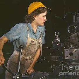Lathe Operator 1942 by Padre Art