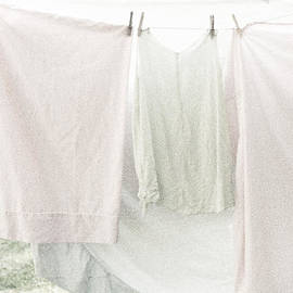 Brooke T Ryan - Laundry on the Line in Pink and Green