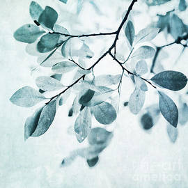 Leaves In Dusty Blue