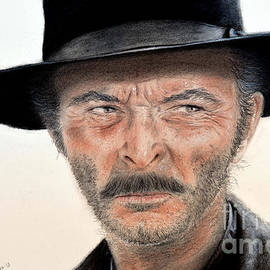 Jim Fitzpatrick - Lee Van Cleef as Angel Eyes in The Good the Bad and the Ugly