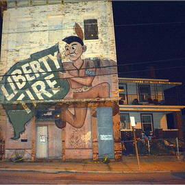 Liberty Tire Graffiti II by Kathy Barney