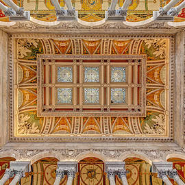 Library Of Congress Main Hall Ceiling by Susan Candelario