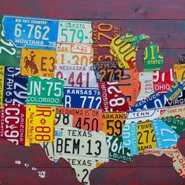 License Plate Map Of The United States by Design Turnpike
