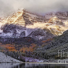 Light on Maroon Bells by Jerry Fornarotto