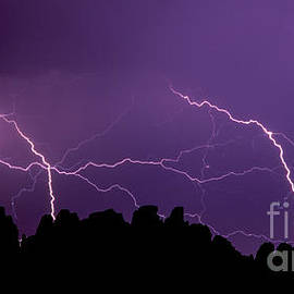 Lightning  over The Needles by Tracy Knauer