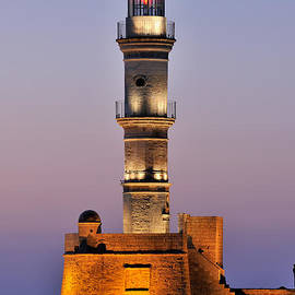 Lighthouse in Chania city by George Atsametakis