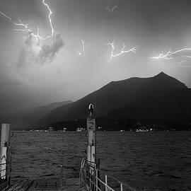 Patrick Jacquet - Lightning over Como lake
