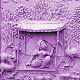 Lilac Fresco Queen Palanquin 2 Udaipur Rajasthan India by Sue Jacobi