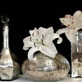 Marsha Heiken - Lilies in Mercury Glass Vases