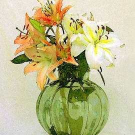 Lilies In Vase by Ben and Raisa Gertsberg