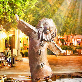 Lion Fountain by Chuck Staley