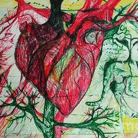 Michael African Visions - Lion Heart Drawing