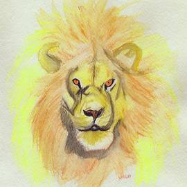 First Star Art  - Lion yellow