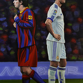 Lionel Messi and Cristiano Ronaldo by Paul Meijering