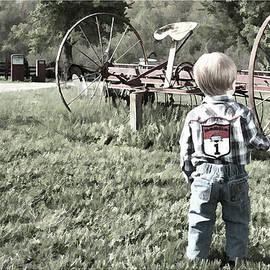 Little boy on Farm by Photos By  Cassandra