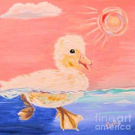 Little Ducky Swimming by Phyllis Kaltenbach