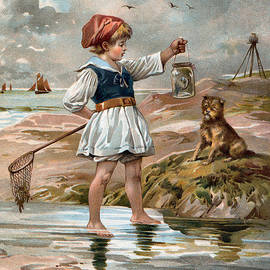 unknown - Little Girl At The Beach
