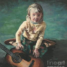 Little Girl with Guitar by Joy Nichols