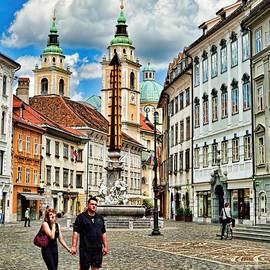 Ljubljana Town Square by Norman Gabitzsch