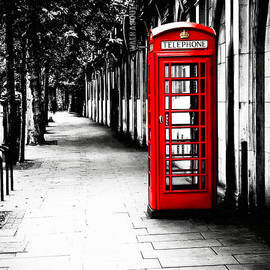London Calling - Red Telephone Box by Mark Tisdale