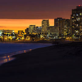 Denise Dube - LONG BEACH COMES ALIVE AT DUSK By Denise Dube