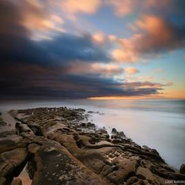 Long Exposure Sunset Of An Incoming