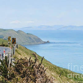 Looking across Cook Strait to the South Island by Chris Warring