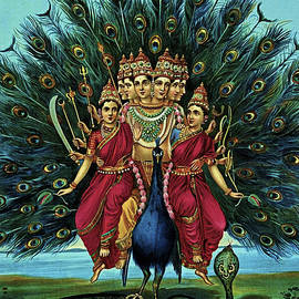 Lord Murugan by Raja Ravi Varma