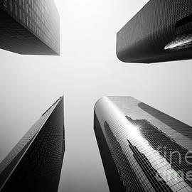 Paul Velgos - Los Angeles Skyscraper Buildings in Black and White