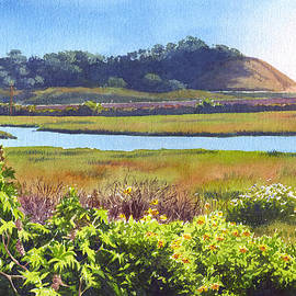 Los Penasquitos Creek Torrey Pines by Mary Helmreich