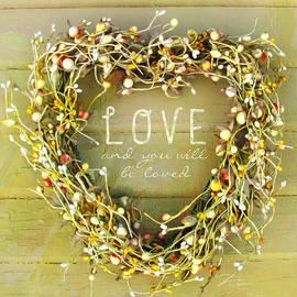 Love Heart Wreath by Shari Warren